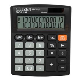 Калькулятор бухгалтерский Citizen SDC-812NR черный 12-разр.. Интернет-магазин Vseinet.ru Пенза