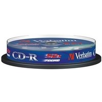 Диск CD-R Verbatim 700Mb 52x Cake Box (1шт) (10) (43437). Интернет-магазин Vseinet.ru Пенза