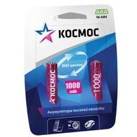Аккумулятор AAA КОСМОС, Ni-MH, 1000 mAh, 1.2 V (в упаковке 2 шт., цена за 1 шт.). Интернет-магазин Vseinet.ru Пенза