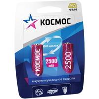 Аккумулятор AA КОСМОС, Ni-MH, 2500 mAh, 1.2 V (в упаковке 2 шт., цена за 1 шт.). Интернет-магазин Vseinet.ru Пенза