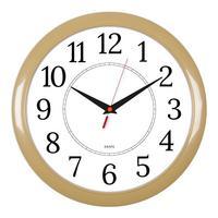 Фото Часы настенные аналоговые Бюрократ WALLC-R88P D29см бежевый/белый. Интернет-магазин Vseinet.ru Пенза