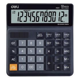 Фото Калькулятор бухгалтерский Deli EM01120 черный 12-разр.. Интернет-магазин Vseinet.ru Пенза
