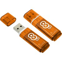 Флешка SmartBuy Glossy  SB8GBGS-Or 8 Гб,  USB 2.0, оранжевая (SB8GBGS-Or). Интернет-магазин Vseinet.ru Пенза