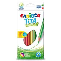 Фото Упаковка карандашей цветных CARIOCA TITA 42786, трехгранные, пластик, 12 цв., коробка европодвес. Интернет-магазин Vseinet.ru Пенза