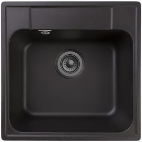 Фото Кухонная мойка GRANFEST Quarz GF-Z48, кварц, 47.8см х 47.8см, черный [gf-z48-308]. Интернет-магазин Vseinet.ru Пенза
