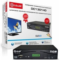 Ресивер D-COLOR DC1301HD DVB-T/T2. Интернет-магазин Vseinet.ru Пенза