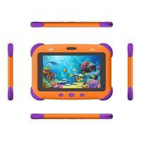 Фото Детский планшет SUNWIND SKY Kids 70, 1GB, 16GB, 3G, Android 10.0 Go разноцветный [ss7238pg ]. Интернет-магазин Vseinet.ru Пенза