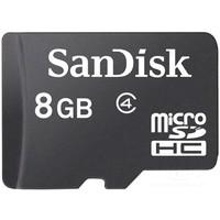 Карта памяти micro SDHC SanDisk 8 Гб, Class 4 (SDSDQM-008G-B35). Интернет-магазин Vseinet.ru Пенза