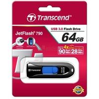 Флешка Transcend JetFlash 790 64Гб, USB 3.0, черный (TS64GJF790K). Интернет-магазин Vseinet.ru Пенза