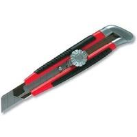 Нож, 18мм, выдвижное лезвие, металл. направляющая, винтовой фиксатор лезвия MATRIX 78914. Интернет-магазин Vseinet.ru Пенза