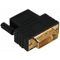 Адаптер Hama Compact DVI-D-HDMI(f) Dual Link 3зв позолоченные контакты черный. Интернет-магазин Vseinet.ru Пенза