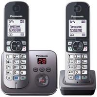 Радиотелефон Panasonic KX-TG6822RUM / 2 трубки / серый. Интернет-магазин Vseinet.ru Пенза