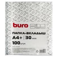 Фото Упаковка папок-вкладышей Buro глянцевые, А4+, 30мкм, 100шт. Интернет-магазин Vseinet.ru Пенза