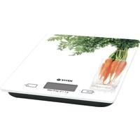 Весы кухонные Vitek 2418-VT-01, белые с рисунком «морковь». Интернет-магазин Vseinet.ru Пенза