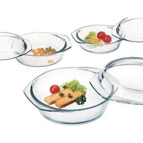 Набор посуды для СВЧ Helper /4510/ C201 / 3 предмета / Стекло