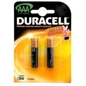 Батарея Duracell LR03-2BL Basic AAA 2шт