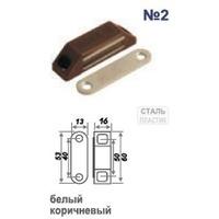 Защелка магнитная №2 (58мм) (белая) арт.9492 Нора-М. Интернет-магазин Vseinet.ru Пенза