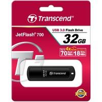 Флешка Transcend JetFlash 700 32Гб, USB 3.0, черный (TS32GJF700). Интернет-магазин Vseinet.ru Пенза