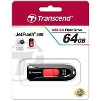 Флешка Transcend JetFlash 590 64Гб,  USB 2.0, черная (TS64GJF590K). Интернет-магазин Vseinet.ru Пенза
