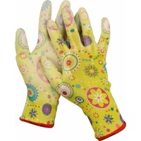 Перчатки Grinda 11290-M садовые, прозрачное PU покрытие, 13 класс вязки, зеленые, размер M. Интернет-магазин Vseinet.ru Пенза