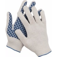 Перчатки трикотажные DEXX 114001, 7 класс, х/б, обливная ладонь. Интернет-магазин Vseinet.ru Пенза