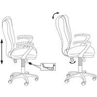 Кресло БЮРОКРАТ Ch-540AXSN, на колесиках, ткань, серый [ch-540axsn/26-25]. Интернет-магазин Vseinet.ru Пенза