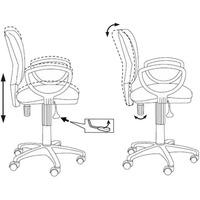 Кресло БЮРОКРАТ Ch-626AXSL, на колесиках, ткань, черный [ch-626axsl/10-11]. Интернет-магазин Vseinet.ru Пенза