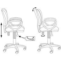 Кресло БЮРОКРАТ Ch-626AXSN, на колесиках, ткань, черный [ch-626axsn/10-11]. Интернет-магазин Vseinet.ru Пенза