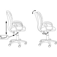 Кресло БЮРОКРАТ Ch-687AXSN, на колесиках, ткань, черный [ch-687axsn/#b]. Интернет-магазин Vseinet.ru Пенза