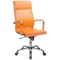 Кресло руководителя БЮРОКРАТ CH-993, на колесиках, кожзам, оранжевый [ch-993/orange]. Интернет-магазин Vseinet.ru Пенза