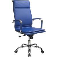 Кресло руководителя БЮРОКРАТ CH-993, на колесиках, кожзам, синий [ch-993/blue]. Интернет-магазин Vseinet.ru Пенза
