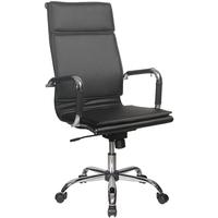 Кресло руководителя БЮРОКРАТ Ch-993, на колесиках, кожзам, черный [ch-993/black]. Интернет-магазин Vseinet.ru Пенза