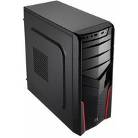 Корпус Aerocool V2X RED черный w/o PSU mATX SECC 1*92mm fan 2*USB2.0 USB3.0 audio HD bott PSU. Интернет-магазин Vseinet.ru Пенза