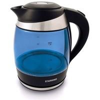 Электрочайник StarWind SKG2216, синий с серебристым и черным. Интернет-магазин Vseinet.ru Пенза