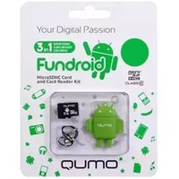Память QUMO Micro SecureDigital Card 16Gb SDHC Class 10 + USB картридер FUNDROID зеленый. Интернет-магазин Vseinet.ru Пенза