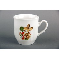 Кружка Коралл TYMB210 белый, Кролик с морковкой, 210 мл. Интернет-магазин Vseinet.ru Пенза