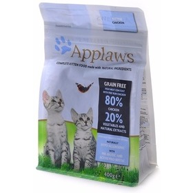 """Applaws Беззерновой для Котят """"Курица/Овощи: 80/20%"""" (Dry Cat Kitten), 2 кг"""