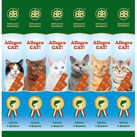 B&B Allegro Колбаски для кошек с лососем и форелью, 6шт (36451), 30 г