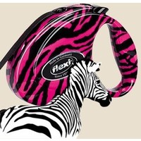 "Flexi Fashion Рулетка-ремень ""Розовая зебра"" с кож.отделкой для собак до 12кг, 3м (Pink Zebra Small). Интернет-магазин Vseinet.ru Пенза"