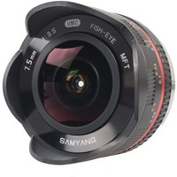 Объектив Samyang 7,5mm f/3.5 UMC Fish-eye Panasonic/Olympus Micro 4/3 (MFT) Black. Интернет-магазин Vseinet.ru Пенза