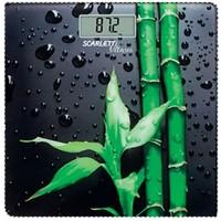 Весы напольные Scarlett SC-BS33E051 Bamboo, черные с рисунком «бамбук». Интернет-магазин Vseinet.ru Пенза
