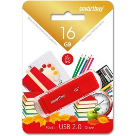 Память SmartBuy Pen Drive 16GB Dock Red (SB16GBDK-R)