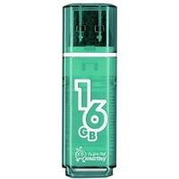 Флешка SmartBuy Glossy  SB16GBGS-G  16Гб,  USB 2.0, изумрудная (SB16GBGS-G ). Интернет-магазин Vseinet.ru Пенза
