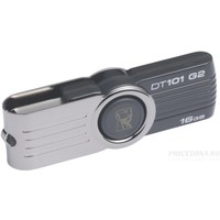 Флешка Kingston DataTraveler DT101G2 16Гб,  USB 2.0, серая (DT101G2/32GB). Интернет-магазин Vseinet.ru Пенза