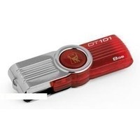 Флешка Kingston DataTraveler DT101G2 8Гб,  USB 2.0, красная (DT101G2/8GB ). Интернет-магазин Vseinet.ru Пенза