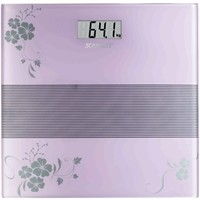 Весы напольные Scarlett SC-BS33E060 , фиолетовые с рисунком «цветы». Интернет-магазин Vseinet.ru Пенза
