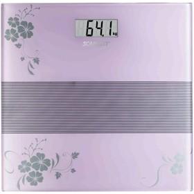 Весы напольные Scarlett SC-BS33E060 , фиолетовые с рисунком «цветы»