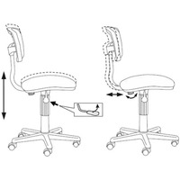 Кресло БЮРОКРАТ Ch-299NX, на колесиках, ткань, черный [ch-299nx/15-21]. Интернет-магазин Vseinet.ru Пенза