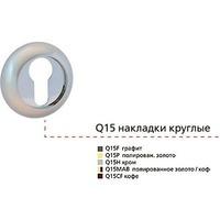 Q15F(ЛM), накладка круг.под евроцилиндр Legate Trendy, графит/золото. Интернет-магазин Vseinet.ru Пенза