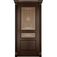 Дверь филенчатая Квадро 11 американский орех ДО(шир 70)б/к/б/о. Интернет-магазин Vseinet.ru Пенза